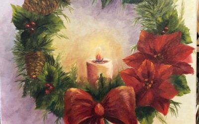 Holiday Wreath Oil Painting Tutorial