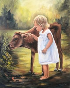 Lilac Studio - My Studio - Girl with Cow @ My Studio in New Castle | New Castle | Indiana | United States
