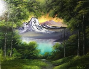 Bob Ross - Lilac Studio - Lake in the Valley @ Lilac Studio | New Castle | Indiana | United States
