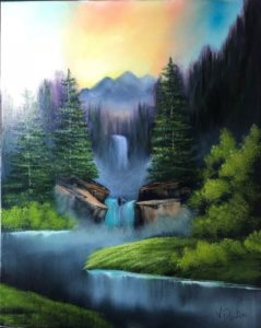 Bob Ross Event - Lilac Studio - New Castle - Falls in the Glen @ Lilac Studio