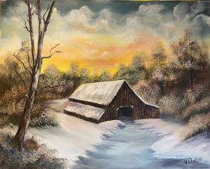 Bob Ross - Barn in the Snow @ Lilac Studio in New Castle | Muncie | Indiana | United States