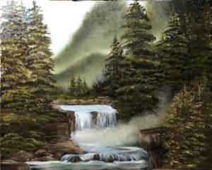 LILAC STUDIO - Bob Ross - Blue Ridge Falls @ Lilac Studio in New Castle | Muncie | Indiana | United States