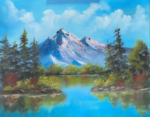 FULL - Lilac Studio - Bob Ross - Mountain Reflections @ Lilac Studio in New Castle | Muncie | Indiana | United States
