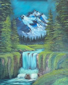 3 Spaces Left - Bob Ross - Valley Waterfall @ Lilac Studio in New Castle   Muncie   Indiana   United States