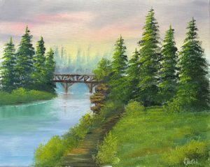 Lilac Studio - Bob Ross - Footbridge @ Lilac Studio in New Castle | Muncie | Indiana | United States