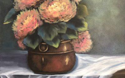 Copper Pot and Lace Hydrangeas Video Tutorial
