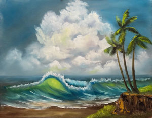 Lilac Studio - Bob Ross Seascape with Palm Trees @ Lilac Studio in New Castle | Muncie | Indiana | United States