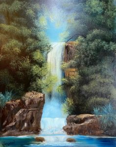 Lilac Studio - Bob Ross - Graceful Waterfall @ Lilac Studio in New Castle | Muncie | Indiana | United States