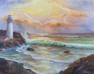 Full - Lilac Studio - Sunrise Lighthouse Seascape @ Lilac Studio in New Castle | Muncie | Indiana | United States