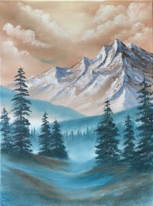 2 spaces left - Lilac Studio - Evening Class - Bob Ross Style - Foggy Mountain Foothills @ Lilac Studio in New Castle | Muncie | Indiana | United States