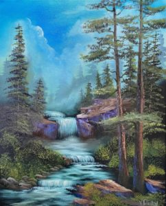 1 space left - LILAC STUDIO - Bob Ross Style - Mountain Falls @ Lilac Studio in New Castle   Muncie   Indiana   United States