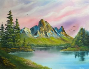 1 Space - Bob Ross - Mountain Majesty @ Lilac Studio in New Castle | Muncie | Indiana | United States