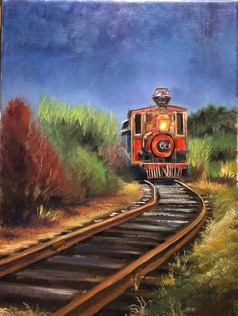 Midnight Train – Step by step oil painting