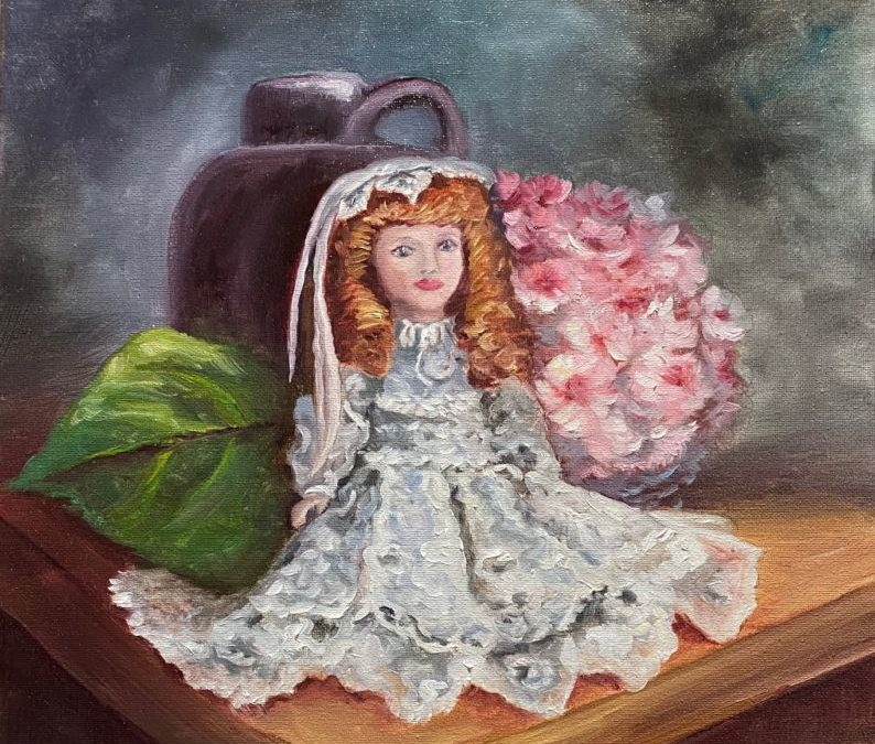 Sitting Pretty – Doll Face & Lace Oil Painting Tutorial