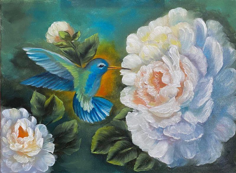 Sip of Spring Oil Painting Tutorial