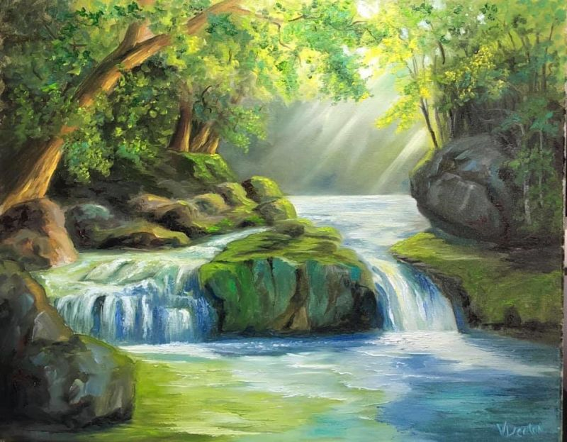 Forest Light Oil Painting Tutorial