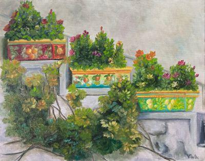 Stairway Garden Oil Painting Tutorial