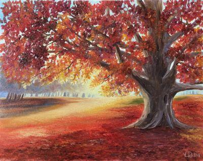 Autumn Glory Oil Painting Tutorial